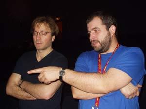 Axel (Regie) und Dirk (Kommandeur)