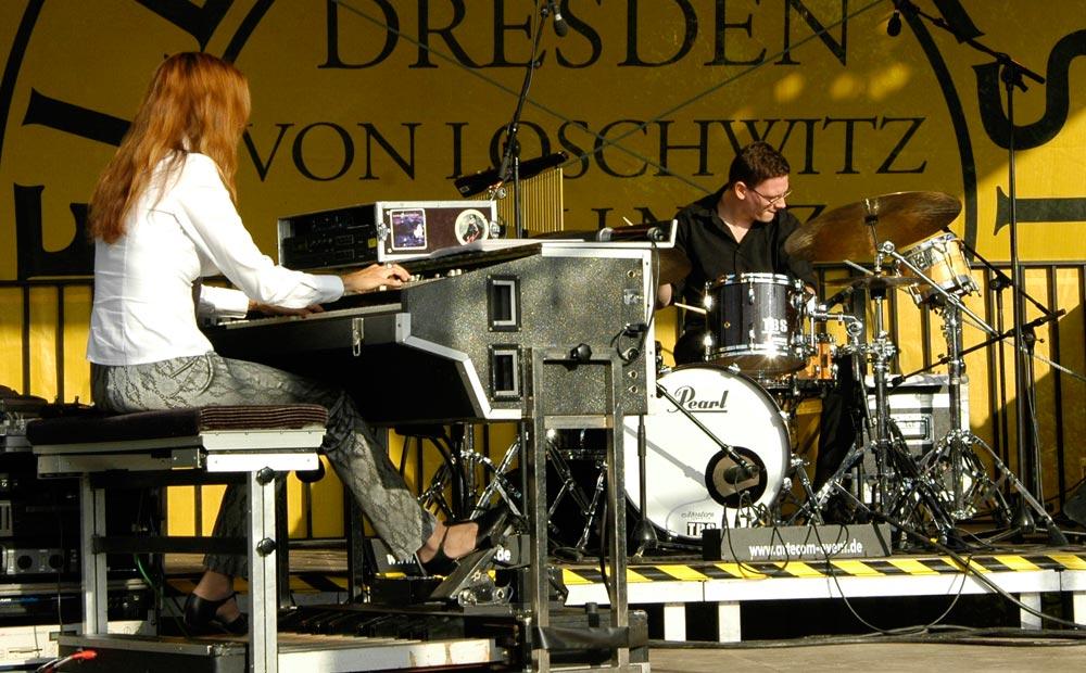 Barbara Dennerlein und Marcel Gustke Elbhangfest 2011 Pillnitz