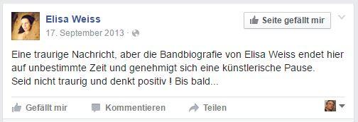 Screenshot Facebook Bandauflösung Elisa Weiss
