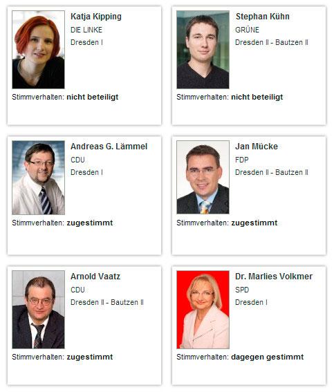 Screenshot abgeordnetenwatch.de, Abgeordnete aus Dresden