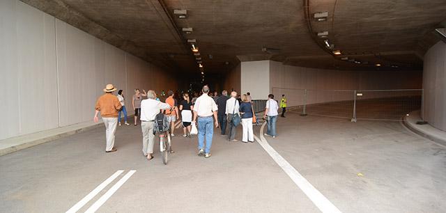 Doch nicht so spannend: Der Tunneleingang