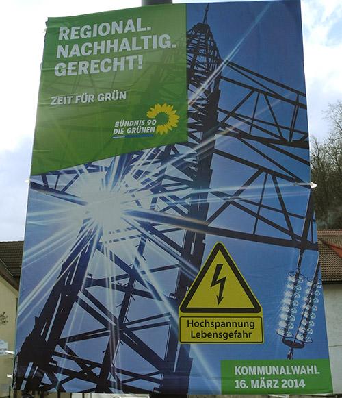 Wahlplakat Grüne 2014 Bayern