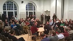 Diskussion bei einer Veranstaltungen der Sächsischen Landeszentrale für politische Bildung zu Pegida e.V.