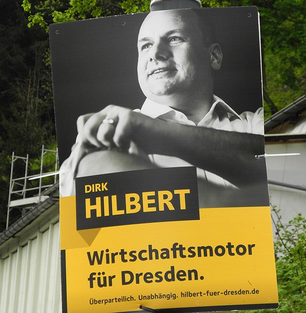 Wahlplakat Hilbert Ärmel hochkrempeln