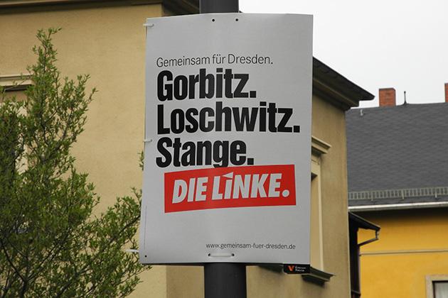 OB-Wahl Dresden, Wahlplakate, Stange