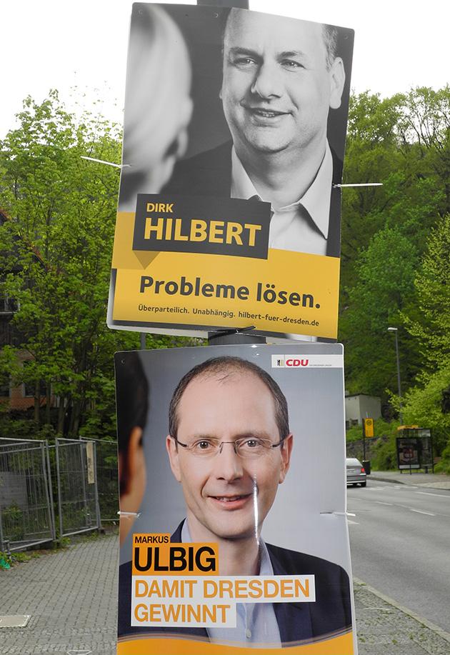OB-Wahl Dresden, Wahlplakate Ulbig, Hilbert
