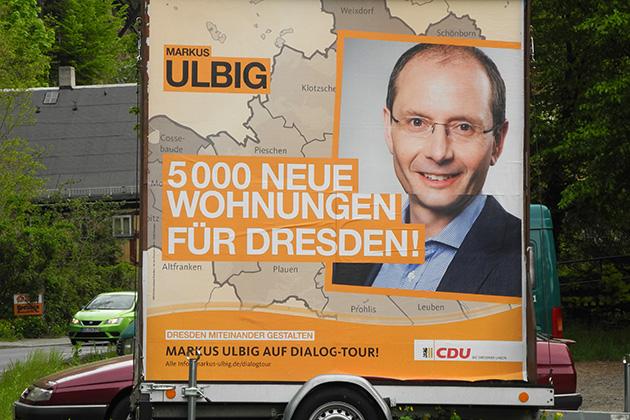 OB-Wahl Dresden, Wahlplakate Ulbig, 5000 neue Wohnungen
