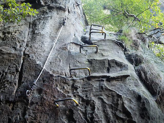Sächsische Schweiz, Häntzschelstiege, Einstieg unterer Teil