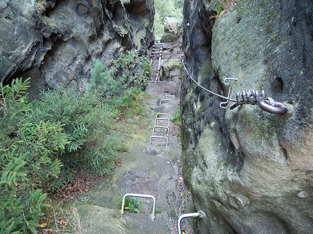 Sächsische Schweiz, Häntzschelstiege, unterer Abschnitt