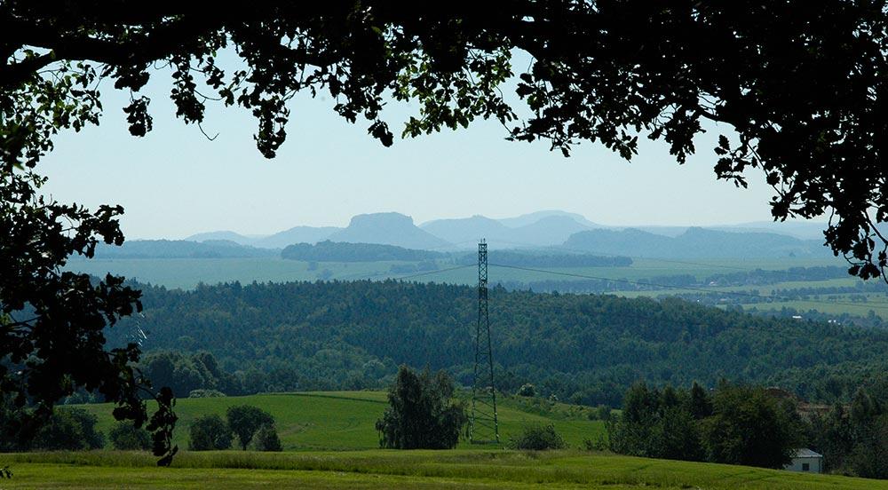 Blick zur Sächsischen Schweiz vom Doberberg