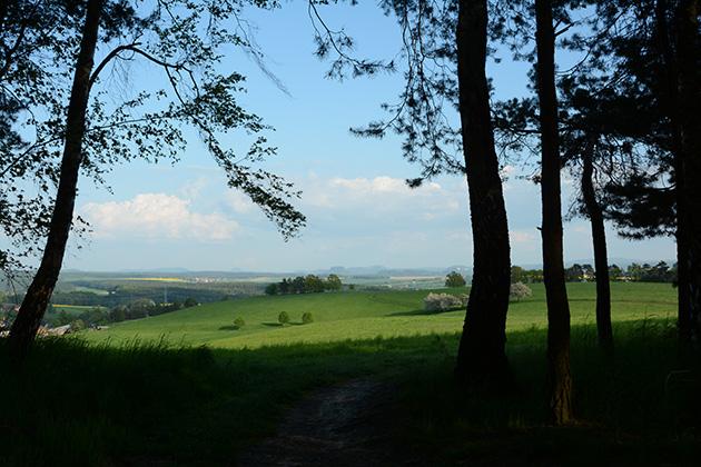 Dresden, Elbhang, Blick zum Doberberg