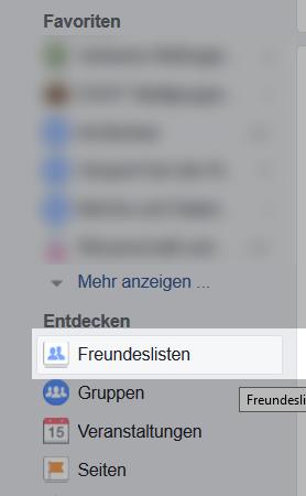 Facebook Freundesliste anlegen 2