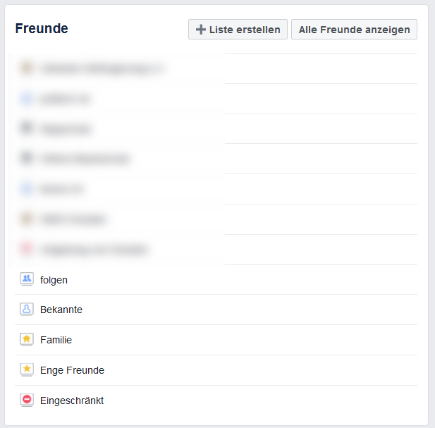 Facebook Freundesliste anlegen 3